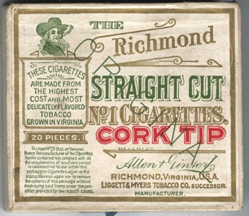 Vintage Richmond Straight Cut No. 1 Cigarette - Lakewood Mall