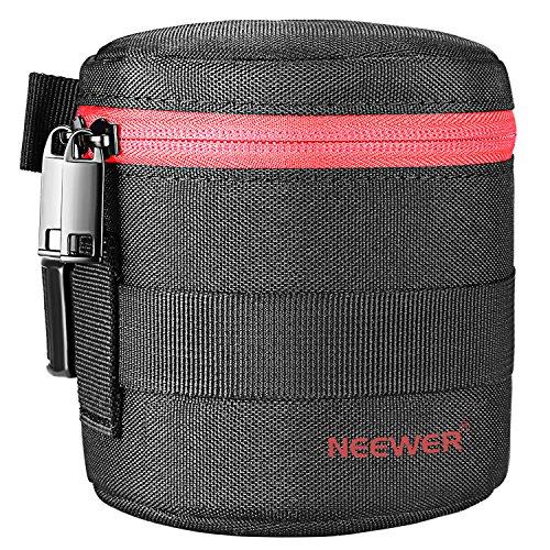 Neewer NW-L2020 Bolsa de Lente Gruesa Acolchada Protectora Resistente Agua para Lente 18 a 55 Milímetros, Como Canon 50...