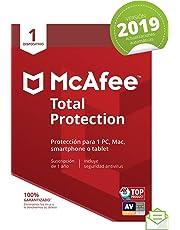 McAfee Total Protection 2019 - Antivirus, PC/Mac/Android/Smartphones, 1 Dispositivo, Suscripción de 1 año