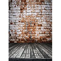 Qian Vintage Brick Wall Photography Background Vinyl Photo Backdrops Studio Props 5x7ft qx069