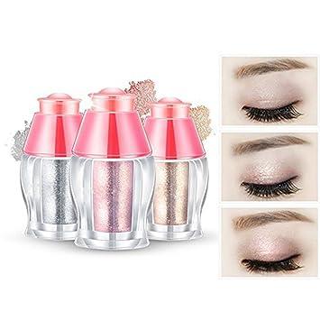 Frcolor Lidschatten Shimmer 3pcs Eyeshadow Glitzer Powder