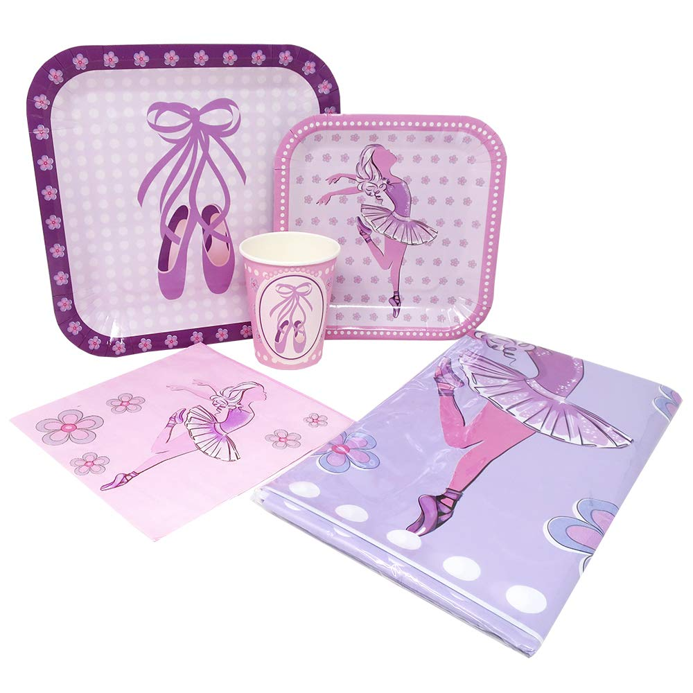 Ballet Deluxe Party Packs (70+ Pieces for 16 Guests!), Ballerina Party Supplies, Pink Plates, Cups, Napkins, Dance Decorations
