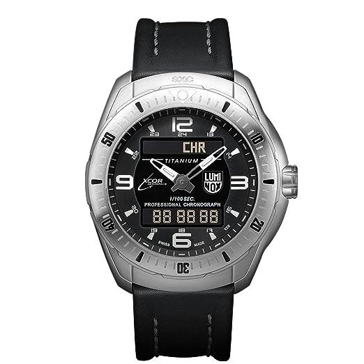 7e2dde7a5b02 Luminox XCOR Aerospace XX.5241.XS Reloj de pulsera Cuarzo Hombre correa de  Cuero Negro  Amazon.es  Relojes