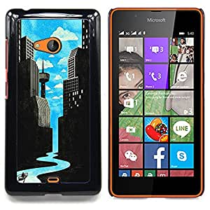 Stuss Case / Funda Carcasa protectora - Arte Río de ciencia ficción Ciudad Deco Libertad - Nokia Lumia 540