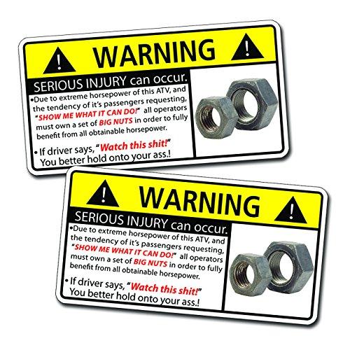 Funny-ATV-Four-Wheeler-Nuts-Warning-Decal-Sticker-4x4