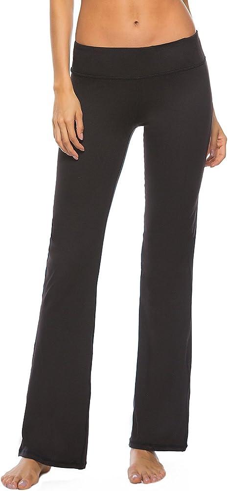 Amazon.com: Pantalones de yoga para mujer Serhom, con corte ...