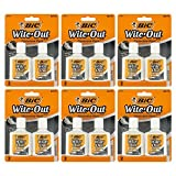 Bic Wite-Out Quick Dry Correction Fluid, 20ml Bottle, White (12 Count)