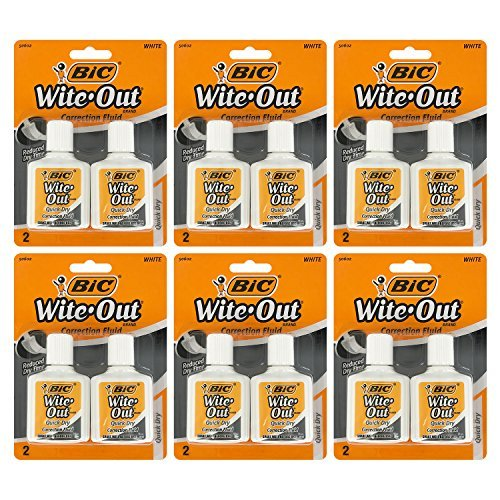 Bic Wite-Out Quick Dry Correction Fluid, 20ml Bottle, White (12 Count) by BIC (Image #1)