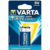 Varta High energy Batterie (9V Block, Alkaline, 6LR61, 1er Pack)