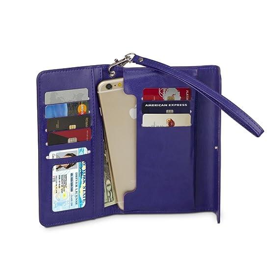 9b29b5a6b42 Amazon.com  Universal Wallet Case Slim Folio for iPhone X, 8, 8 Plus ...