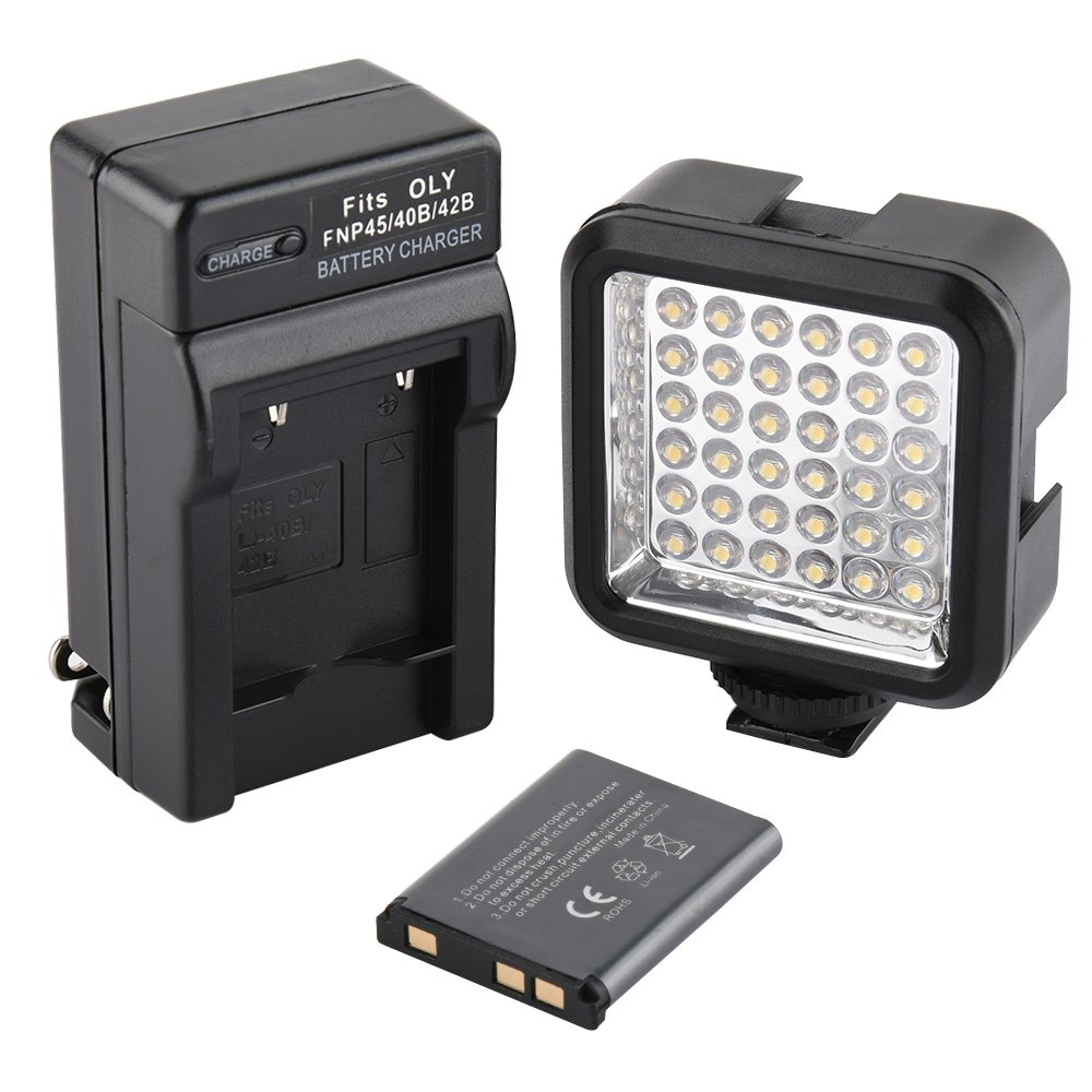 SUPON Ultra-Bright LED 36 Video Light Continuous on Camera Lighting Camcorders Rechargeable Battery Pack Charger Compatible Canon, Nikon,Sony, Olympus,Pentax DSLR Cameras