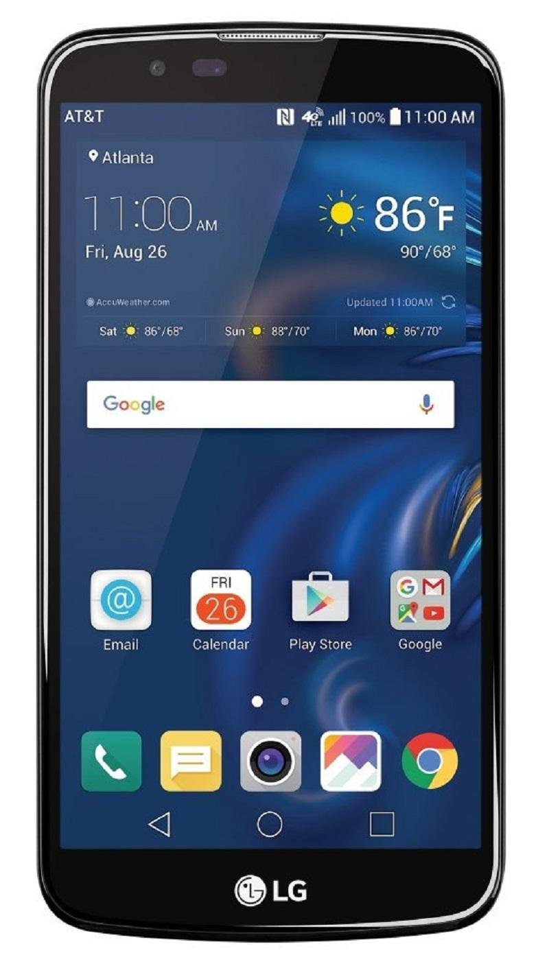 "LG K10 4G LTE 16GB 5.3"" HD Display 8 MP Android 7.0 Nougat Smartphone (GSM Unlocked) - Navy Blue"
