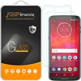 (2 Pack) Supershieldz for Motorola Moto Z3 and Moto Z3 Play Tempered Glass Screen Protector, Anti Scratch, Bubble Free