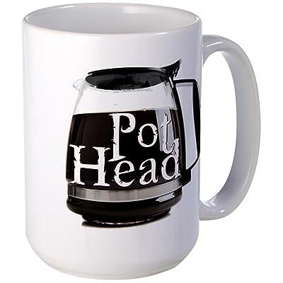 CafePress - POT HEAD Large Mug - Coffee Mug, Large 15 oz. White Coffee Cup