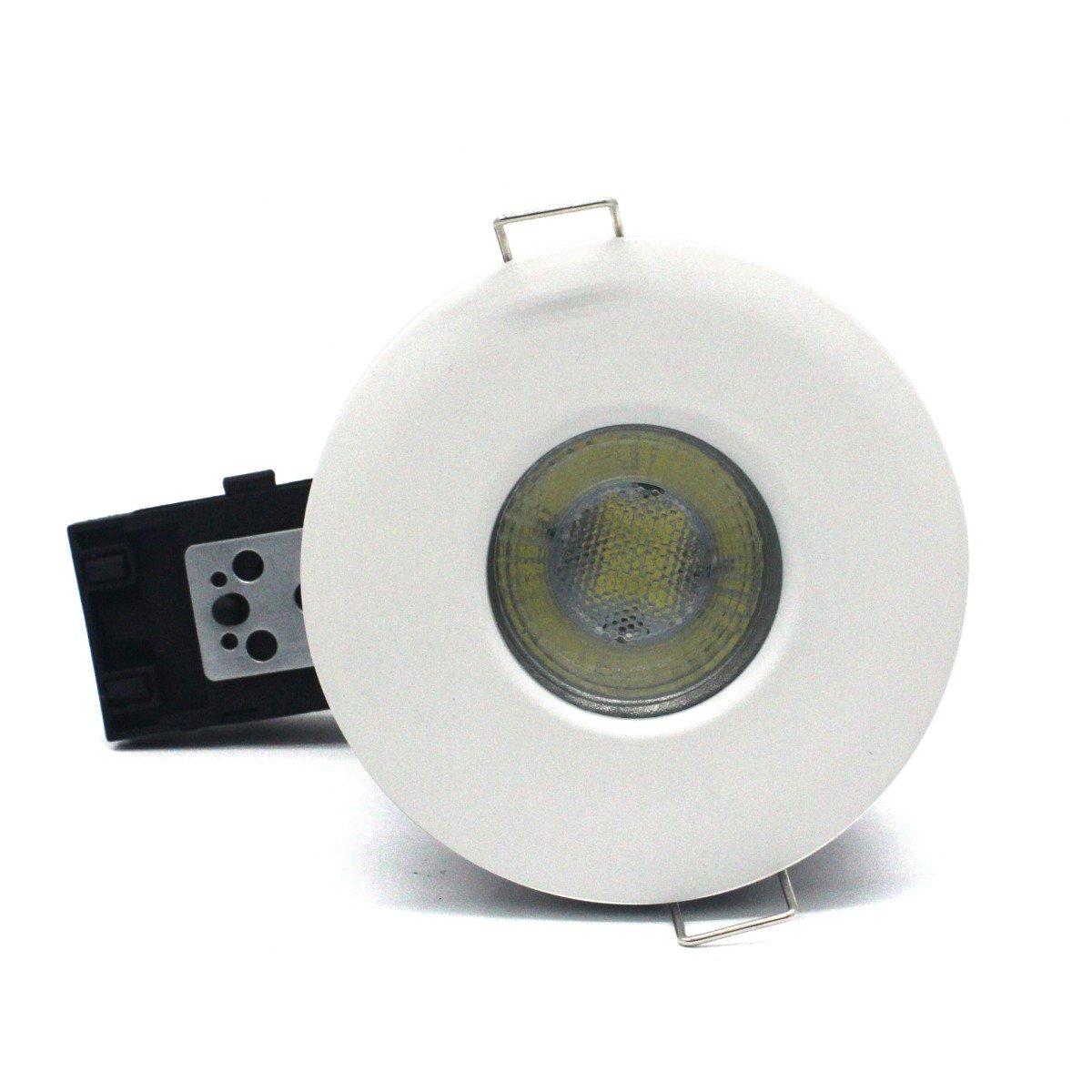 2 pi/èces Fire Rated 90 minutes salle de bain spot Chrom/é Sanlumia coupe-feu GU10 encastr/é downlight Twist /& Lock IP65 compatible LED