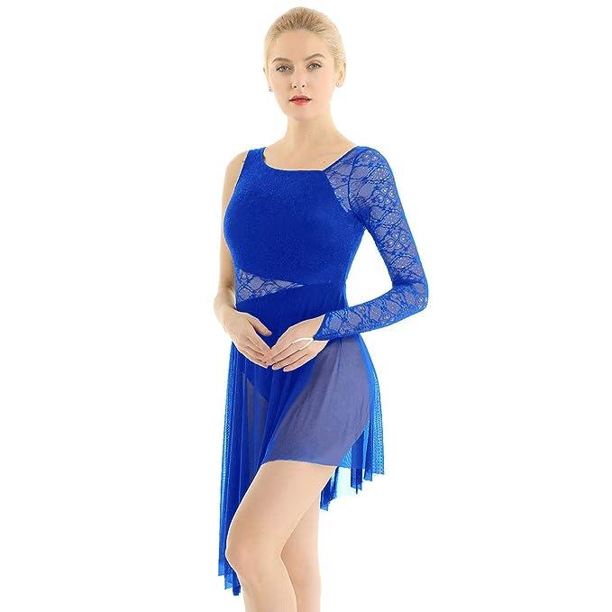 inhzoy Vestido de Danza Ballet Encaje para Mujer Maillot de ...