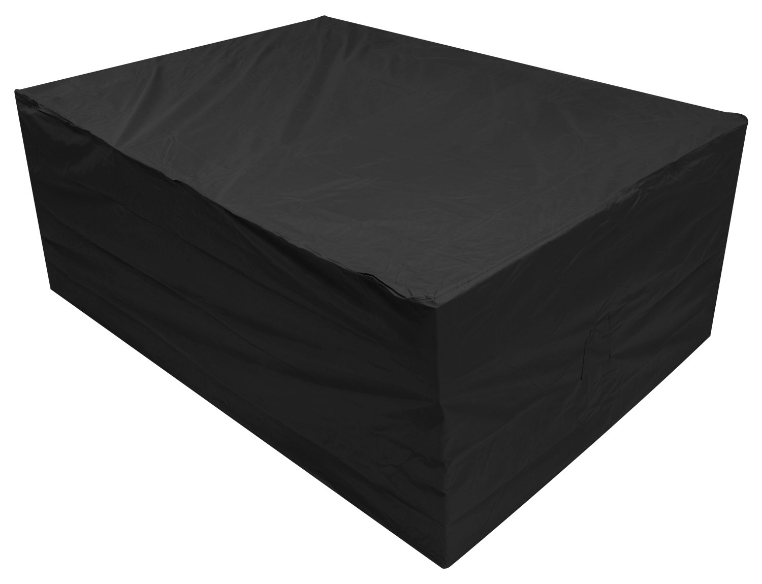 Oxbridge Black Large Patio Set//Oval//Rectangle Table Cover Garden Outdoor Furniture Cover 2.8m x 2.06m x 1.08m//9.2ft x 6.75ft x 3.5ft 5 YEAR GUARANTEE