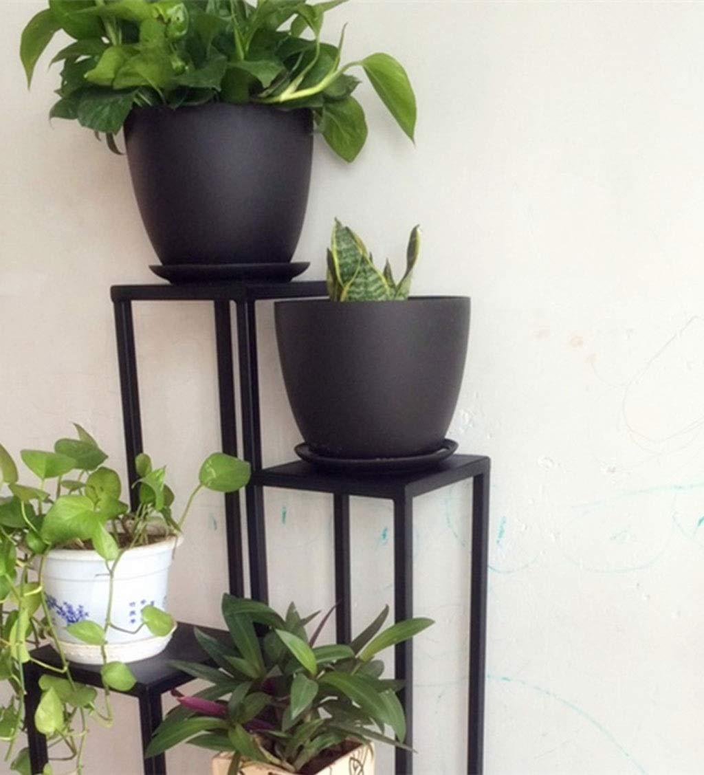 ブラック錬鉄製パーティションディスプレイスタンド、マルチフロアアート装飾、テラス、ポーチ、バルコニー、庭に適して (サイズ さいず : 80センチメートル) B07S1GBJK9  80センチメートル