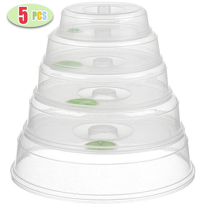 Amazon.com: Juego de fundas de tapa para microondas 5/plato ...