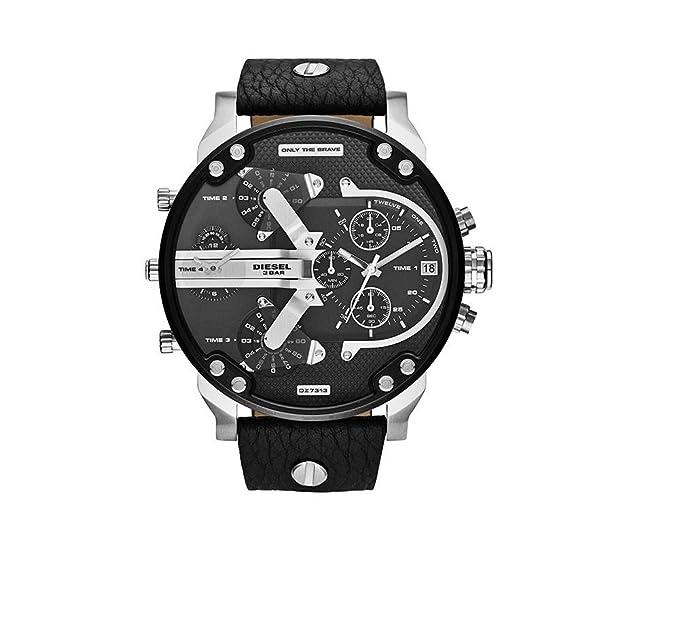 DIE1014 - Reloj Diesel para hombre Modelo Mr Daddy 2.0 – Cuadrante negro/plata: Amazon.es: Relojes