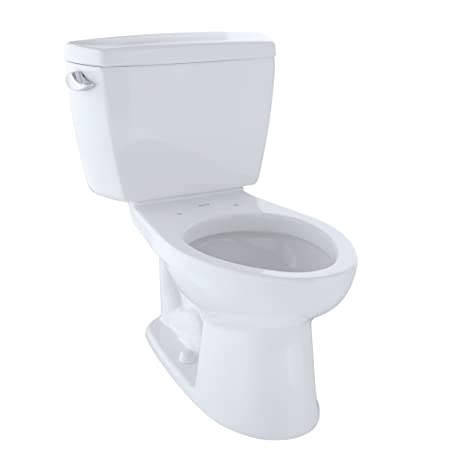 TOTO CST744SL01 Drake 2 Piece Ada Toilet With Elongated Bowl Cotton White