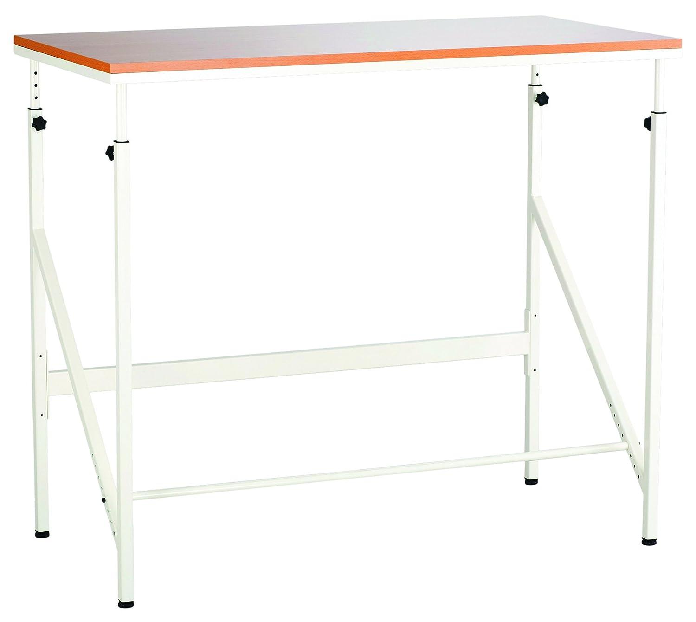Walnut//Natural Safco Products 1957WL Sit//Stand Bi-Level Desk