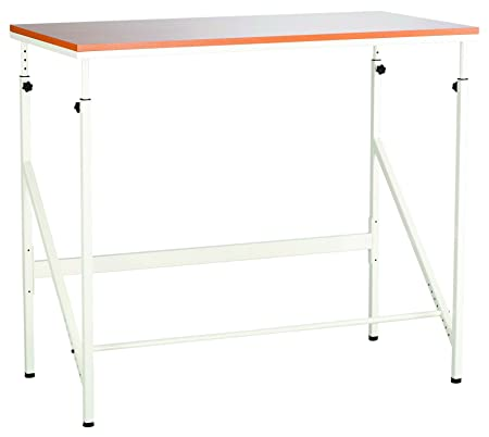 Safco Products 1957BH Sit Stand Bi-Level Desk, Beech White