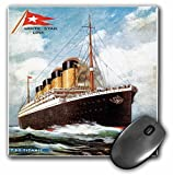 3dRose LLC 8 x 8 x 0.25 Inches Vintage White Star Line S.S. Titanic Mouse Pad (mp_149236_1)
