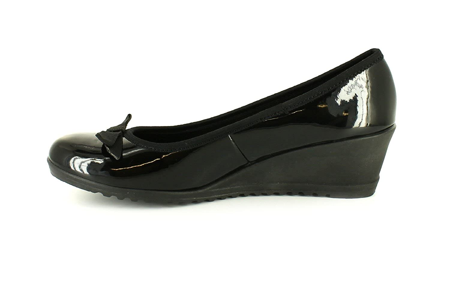 Platino Harriet Womens Wedge Shoes Black - Black - UK SIZE 8: Amazon.co.uk:  Shoes & Bags