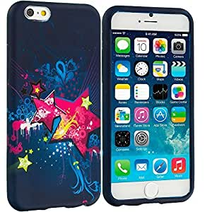 good case Pink Blue Star TPU Design Soft Rubber Case Cover Accessory for Apple iphone 4 4s