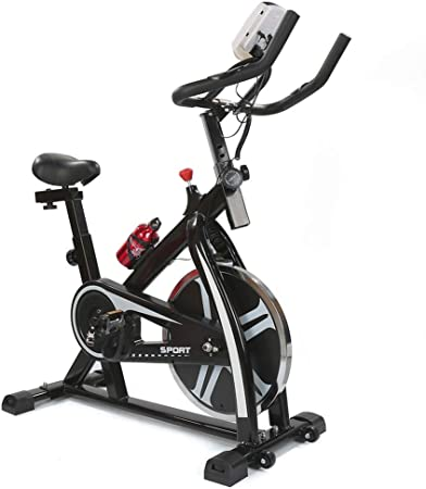 Turefans Bicicleta Spinning Fitness MAX 120kg Pulsómetro Pantalla ...