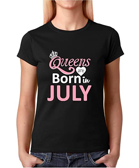 462b78ef9 Crazy Bros Tees Women's Queens are Born in July - Birthday Gift T-Shirt  Premium