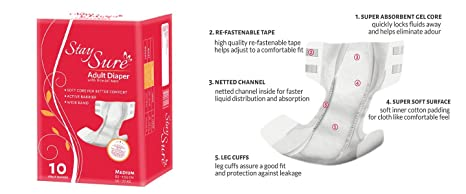 Buy Stay Sure Adult Diaper 10s Online at Low Prices in India
