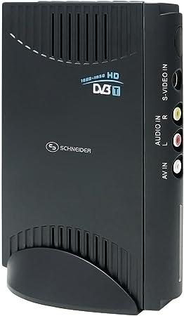 Schneider SCDVB200PC - Sintonizador de TV (DVB-T, USB, 155 x 30 x 115 mm) , Color: Black: Amazon.es: Electrónica