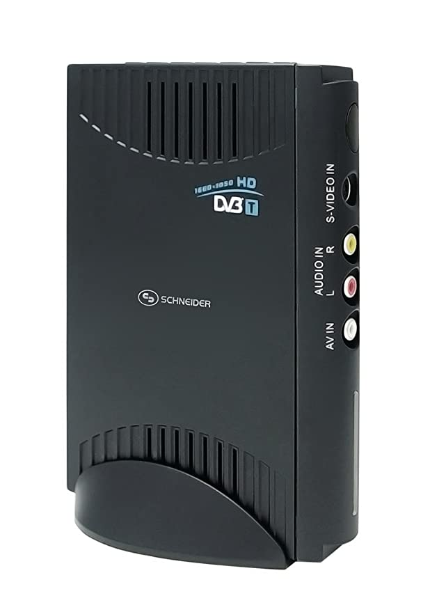 Schneider SCDVB200PC - Sintonizador de TV (DVB-T, USB, 155 x 30 x 115 mm) , color: Black: Amazon.es: Electrónica
