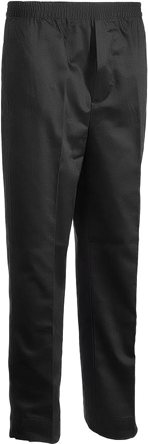 "48/"" Waist Mens washable Black single pleat trouser unfinished Leg TR11"