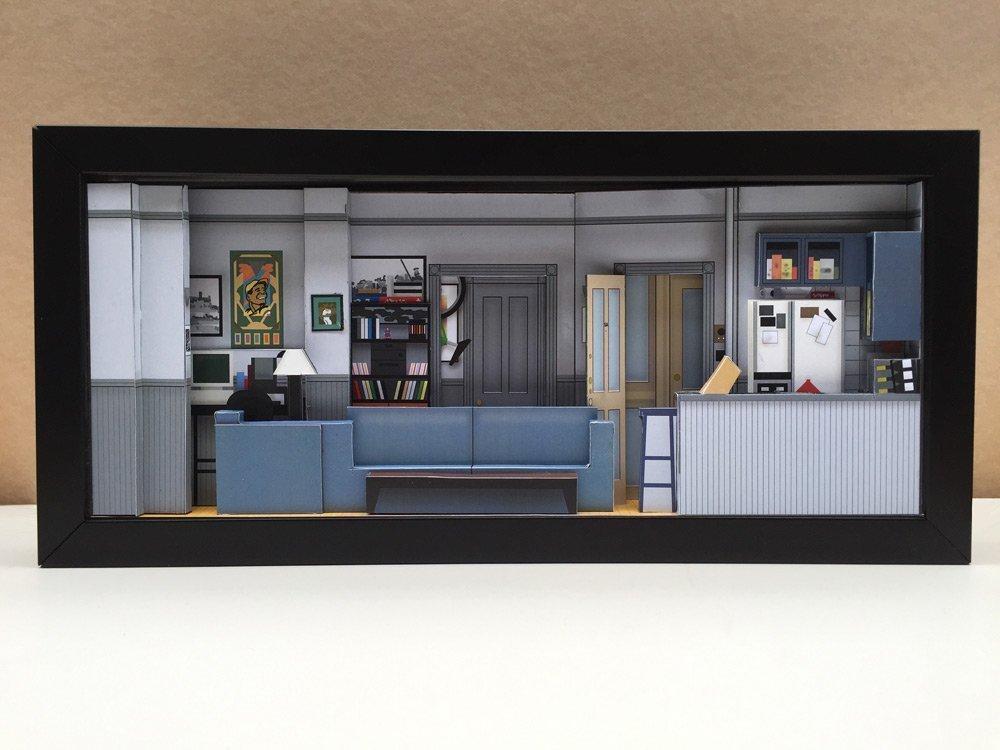 Seinfeld Apartment set shadowbox diorama - memorabilia picture art collector gift
