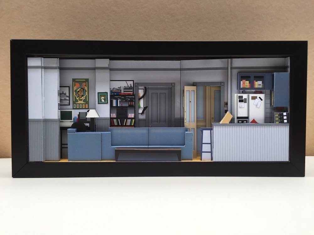 Seinfeld Apartment set shadowbox diorama - memorabilia picture art collector gift