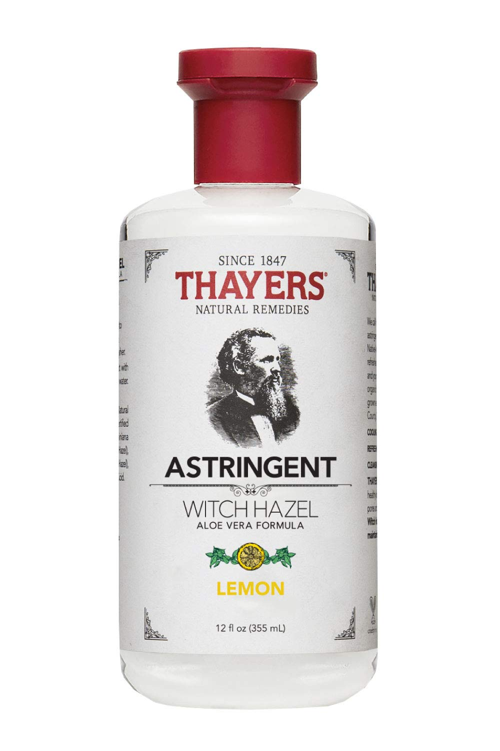 Thayers Witch Hazel Astringent with Aloe Vera Formula, Lemon, 12 Fluid Ounce - Packaging may vary by THAYERS