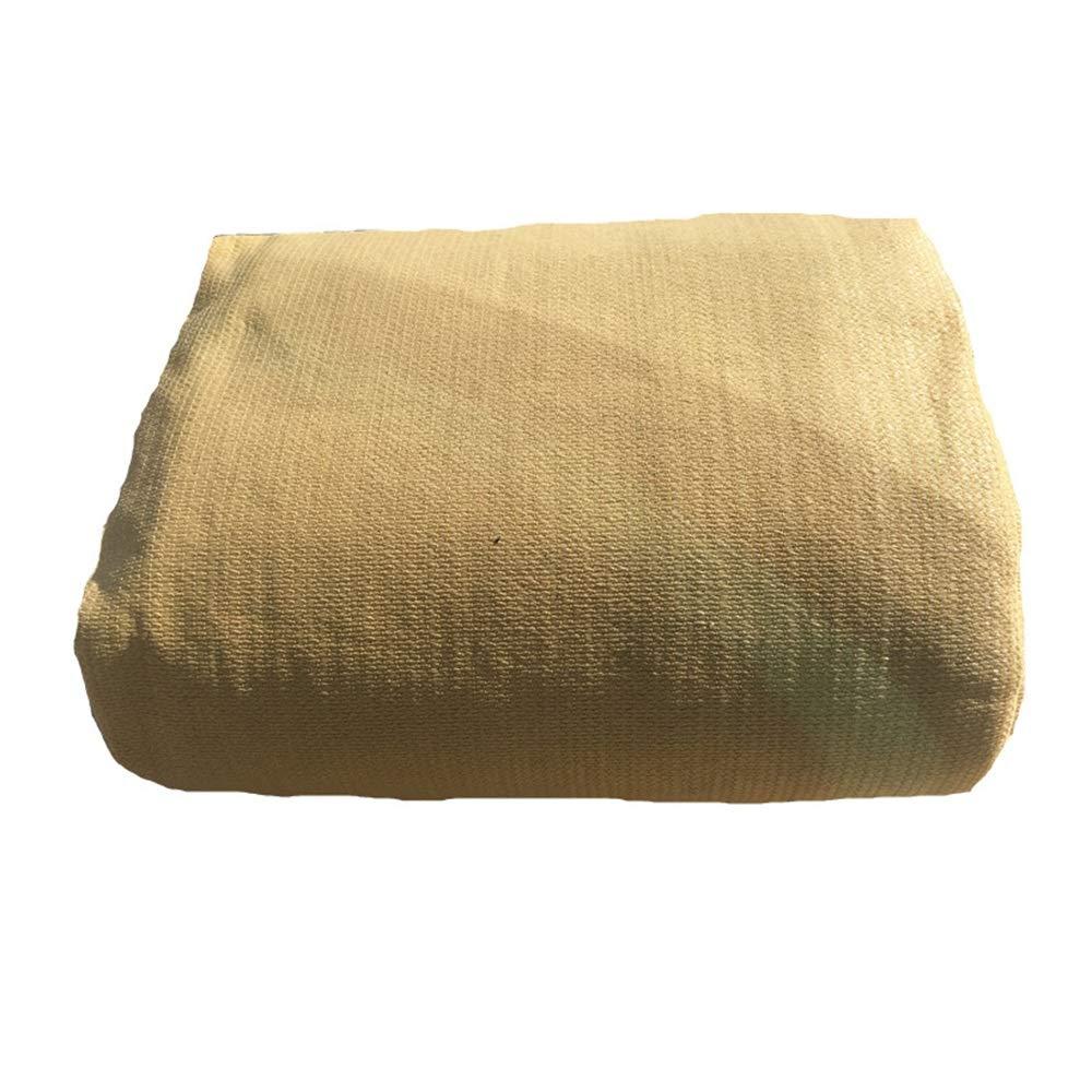 Rete ombreggiata Feifei Telo Resistente all'ombra Resistente al Sole del 90% Telo Coprente Resistente ai Raggi UV per Giardini di Fiori (colore   Beige, Dimensioni   6×6m)