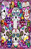 Psychedelic Sugar Skulls Switchplate - Switch Plate Cover