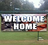 Welcome Home 13 oz Heavy Duty Vinyl Banner Sign with Metal Grommets, New, Store, Advertising, Flag, (Many Sizes Available)