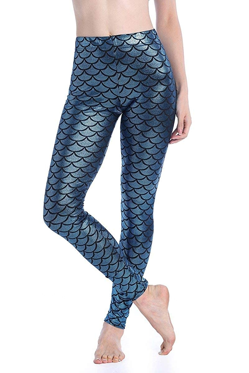 Printed Leggings Dotted Dragon Fish Scale