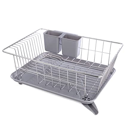 Plate Dish Drying Rack Fcoson Stainless Steel Drying Drainer Organizer Rack for Kitchen Cabinet  sc 1 st  Amazon.com & Amazon.com: Plate Dish Drying Rack Fcoson Stainless Steel Drying ...