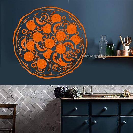 zhuziji Italia Food Pizza Wall Decal Vinyl Kitchen Restaurant Art ...