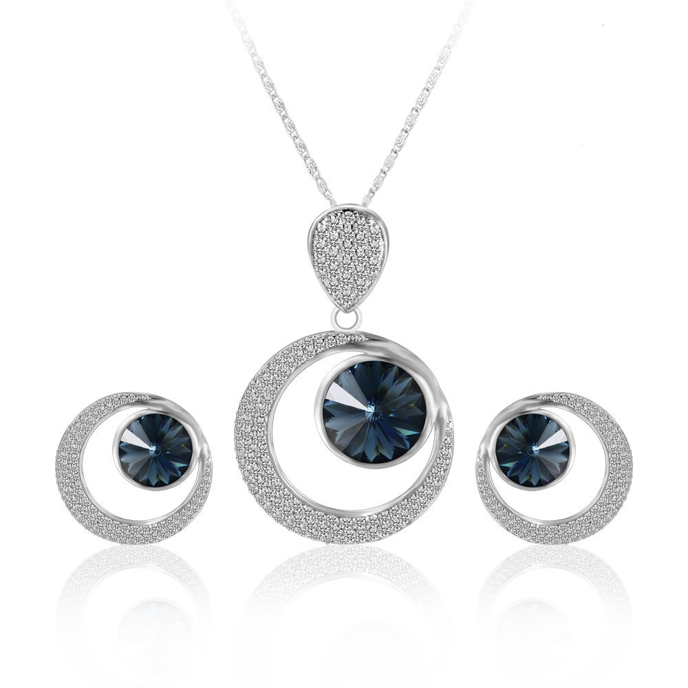 Xuping Christmas Luxury Round Moon Style Crystals from Swarovski Jewelry Set for Bride Brand Wedding Lover Black Friday XS6112-S06