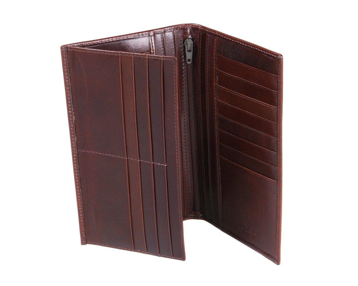 SAGEBROWN Brown Men's Tall Leather Wallet by Sage Brown