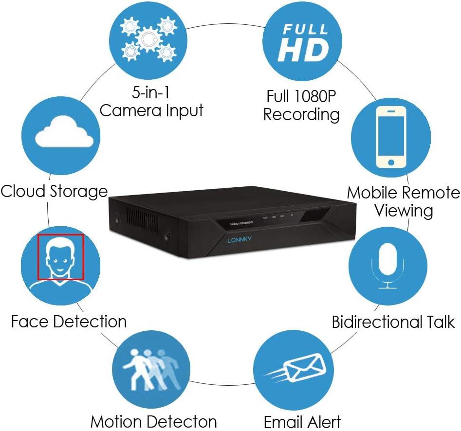 "HD 4x IP Bullet Cameras 10,1/"" LCD Display 4CH 720P HD PoE Überwachungssystem"