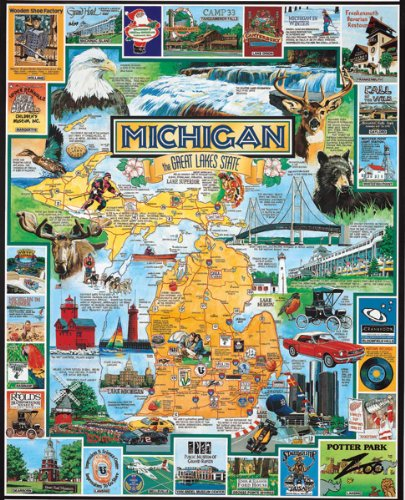 - White Mountain Puzzles Best of Michigan - 1000 Piece Jigsaw Puzzle