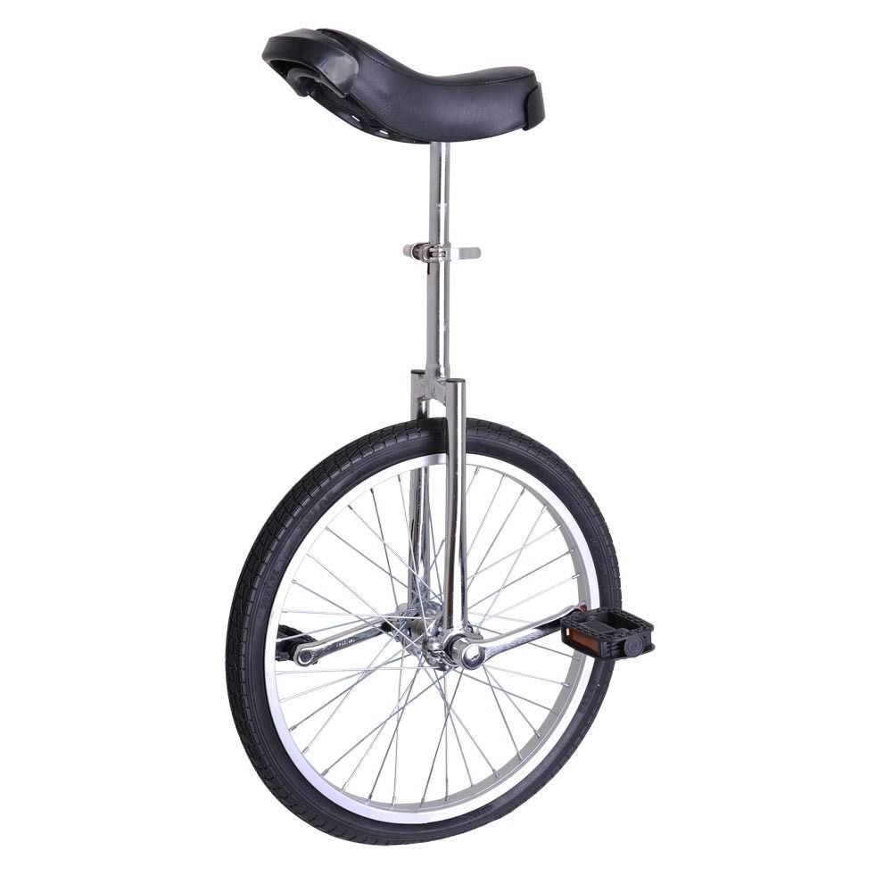 GHP Silver Manganese Steel 20'' Wheel Skid-Proof Tire Aluminum Alloy Rim Unicycle